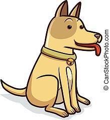 σκύλοs , γελοιογραφία