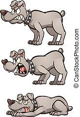 σκύλοs , θυμωμένος