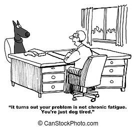 σκύλοs , κουρασμένος