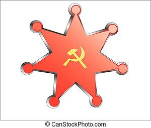σοβιέτ , εθνικός , μετάλλιο , σημαία