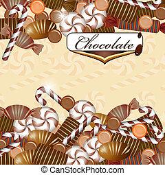 σοκολάτα γλασσάρω , φόντο