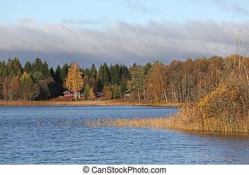 σουηδικά , λίμνη