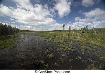 σουηδικά , tullingsaas, προοπτική , πάνω , λίμνη