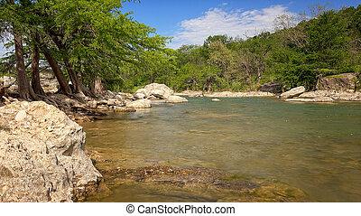 σπάγγος , πάρκο , δηλώνω , διαμέσου , pedernales, ποτάμι , texas