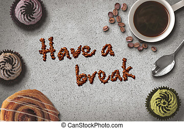 σπάζω , καφέs