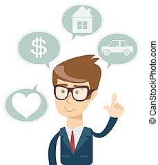 σπίτι , αγάπη , ψώνια , επιχείρηση , αυτοκίνητο , ονειρεύομαι για , επιτυχής , άντραs