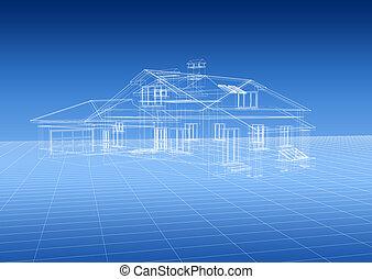σπίτι , αρχιτεκτονικό σχέδιο