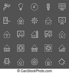 σπίτι , γραμμικός , κομψός , απεικόνιση