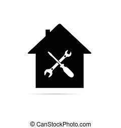σπίτι , εργαλείο , μικροβιοφορέας , μαύρο