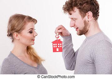 σπίτι , ζευγάρι , keys.