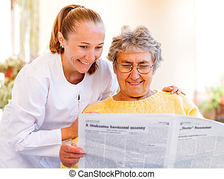 σπίτι , ηλικιωμένος ανατροφή