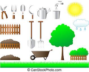 σπίτι , θέτω , εργαλεία , κήπος