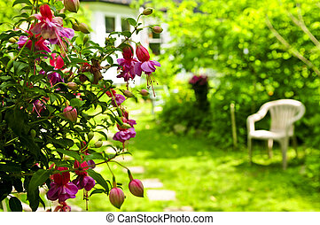 σπίτι , και , κήπος