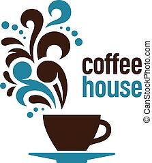 σπίτι , καφέs