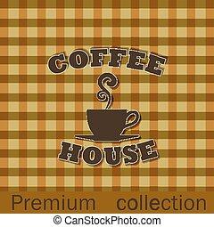 σπίτι , καφέs , διαφήμιση , αφίσα