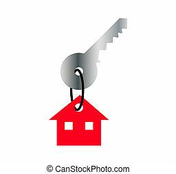 σπίτι , κρεμαστό κόσμημα , κλειδί