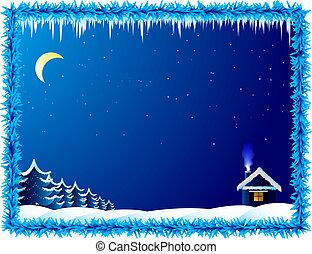 σπίτι , μοναχικός , παγερός , νύκτα