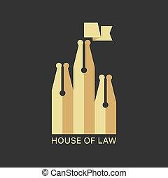 σπίτι , νόμοs , logotype