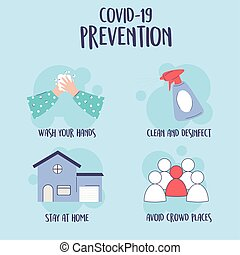 σπίτι , πανδημία ιατρική , απολυμαίνω , ανάδρομος , infographic, πλύση , 19, ανάμιξη , covid, άγγιγμα , καθαρός , πρόληψη