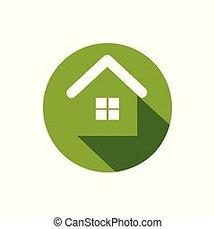 σπίτι , πράσινο , εικόνα