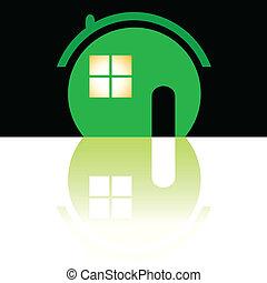 σπίτι , πράσινο , εικόνα , εικόνα