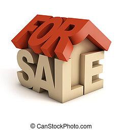 σπίτι , 3d , πώληση , εικόνα