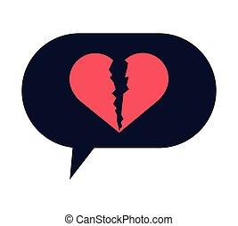 σπασμένος , αγόρευση αφρίζω , καρδιά