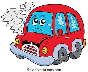 σπασμένος , γελοιογραφία , αυτοκίνητο