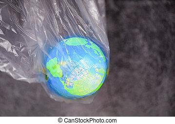 σπατάλη , τσάντα , κόσμοs , περιβάλλον , ημέρα , αφορίζω , ανακυκλώνω , όχι , γενική ιδέα , πλαστικός , γη , πλανήτης , λέω , - , μηδέν , ή , ρύπανση