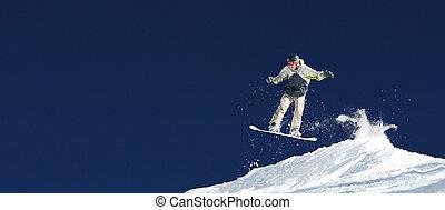 σπουδαίος , έχει , εύθραυστος , διάστημα , detail., μπόλικος , αγνοώ , ουρανόs , χιόνι , αέραs , φόντο. , ψεκάζω , διαμέσου , αντιμετωπίζω , αντίγραφο , snowboard