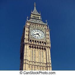 σπουδαίος , βουνοκορφή , ρολόι , μεγάλος , λονδίνο , πύργος