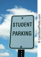 σπουδαστής , σήμα , πάρκινγκ