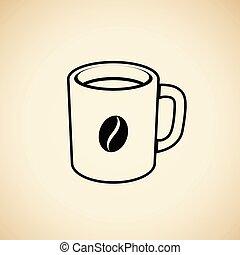 σπόρος καφέ , εικόνα , απομονωμένος , κύπελο ,...