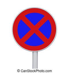 στάθμευση , σήμα , απαγορεύεται το παρκάρισμα