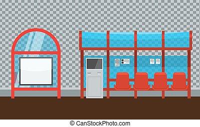 στάση λεωφορείου , πληρωμή , kiosk., βάζω καινούργιο καβάλο , αντιμετωπίζω , αντίκρυσμα του θηράματοσ. , πλευρά