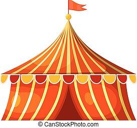 στέγη εισόδου , τσίρκο , εικόνα , μικροβιοφορέας , tent., γελοιογραφία