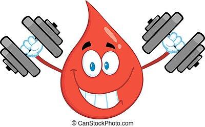 σταγόνα , βάρη , αίμα , ανέβασμα , κόκκινο
