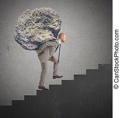 σταδιοδρομία , σπουδαίος , προσπάθεια , δύσκολος