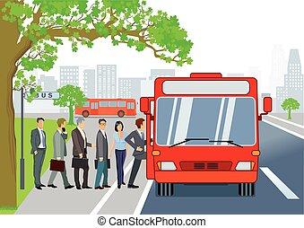 σταματώ , λεωφορείο