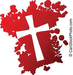 σταυρός , αίμα