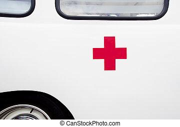 σταυρός , κόκκινο , ασθενοφόρο