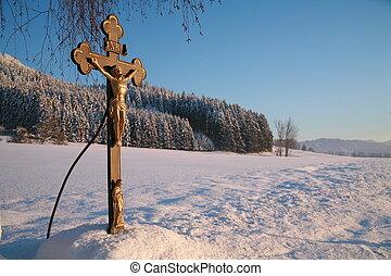 σταυρός , μέσα , χειμώναs