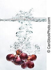 σταφύλι , φρούτο , βουτιά , επάνω , νερό