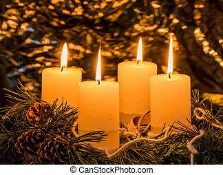 στεφάνι , άφιξη , xριστούγεννα