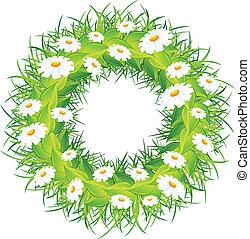 στεφάνι , λουλούδι , στρογγυλός