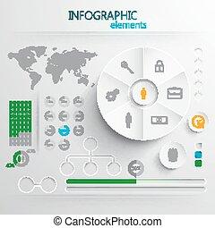 στοιχεία , ή , ιστός , αφαιρώ , χαρτί , τυπώνω , θέτω , μικροβιοφορέας , infographic, σχεδιάζω , 3d