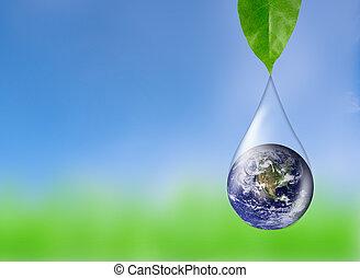 στοιχεία , αντανάκλαση , επίπλωσα , αυτό , φύλλο , εικόνα , σταγόνα , νερό , εθνική διεύθυνση αεροναυτικής και διαστήματος , πράσινο , κάτω από , γη