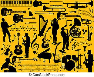 στοιχεία , μουσική