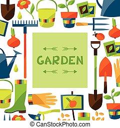 στοιχεία , σχεδιάζω , κήπος , φόντο , απεικόνιση