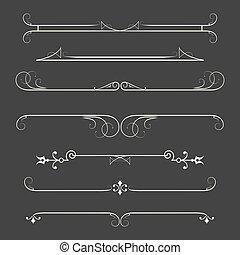 στοιχεία , calligraphic, σελίδα , αναθέτω διάταξη , decor.